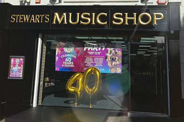 Stewart's Music Shop Is 40