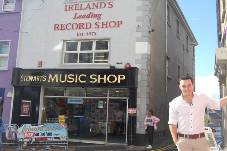 Nathan Carter outside Stewarts