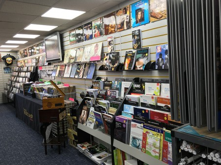 Inside Stewart's Music Shop